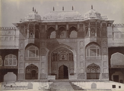 Amber Palace, Jeypore. Gateway leading to Sheesh Mahal